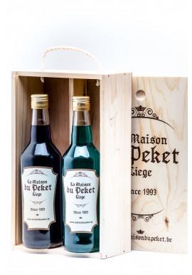Coffret 2 bouteilles de Peket Genièvre