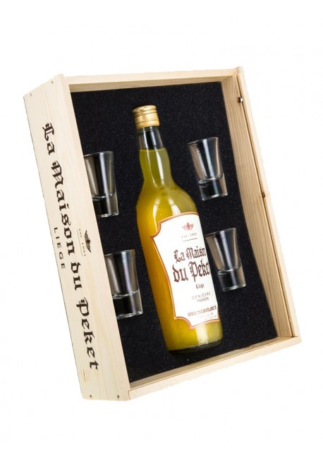 Coffret 1 bouteille de Peket Genièvre